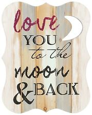 "Typography Expressions "" Love you to the Moon And Back"" Wall Décor by Carson"