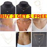 Fashion Women Crystal Multi-Layer Choker Collar Pendant Chain Necklaces Jewelry