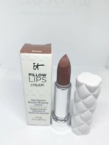 IT COSMETICS PILLOW LIPS CREAM LIPSTICK SERENE 0.13 OZ Full Size New
