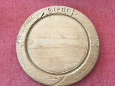 Genuine Antique Elm Bread Board Carved Word Bread Kitchenalia Excellent Con