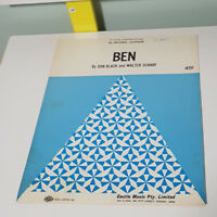 BEN SHEET MUSIC! WORDS & MUSIC BY DON BLACK & WALTER SCHARF!