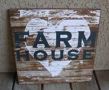 HEART Farm House Wood Wall SIGN*Primitive/French Country Farmhouse Decor