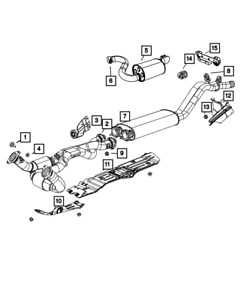 Genuine MOPAR Exhaust Resonator And Pipe Right 5181383AC
