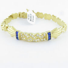 NYJEWEL 18K Gold Brand New Beautiful Crystal Spinel Bracelet Great Gift