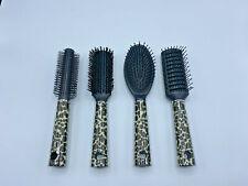 4 Pack Round Bristle Hair Brush With Nylon Pin Ceramic Blow Dry NEW