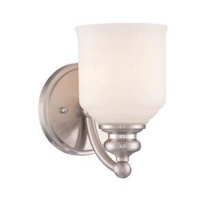 Savoy House Lighting 9-6836-1-SN Melrose Bathroom Vanity Lights Satin Nickel
