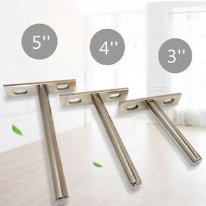 "10Pcs 3/4/5"" Concealed Floating Hidden Wall Shelf Support Metal Brackets   ##1"