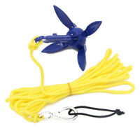Foldable Aluminum Anchor Kit with Rope for Canoe Kayak Small Boat Accessories