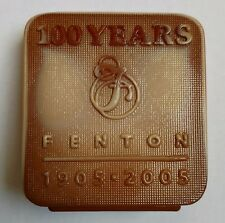 Fenton Chocolate Glass Logo 100th Anniversary Limited Edition 2005 12/300 Signed