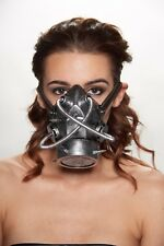 Silver Goth Steam Punk Respirator Gas Mask Prop Mad Max Terminator Style Cosplay