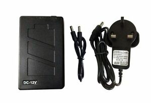 12V DC Rechargeable Li-ion Battery Pack 2800mAh with UK charger for CCTV Camera
