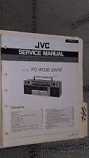 JVC pc-w330 jw w service manual original repair book stereo tape boombox radio