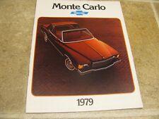 1979 Chevy Monte Carlo Sales Brochure 79