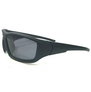 WX EN166 S Sunglasses Eyeglasses Sunglasses Wrap Sport Square Matte Black 120