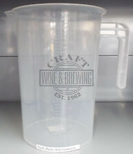 Homebrew And General Use 4 Litre Plastic Calibrated Measuring Jug