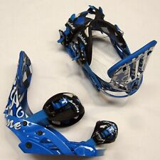 "TECHNINE T9 ""TEAM BLUE"" SNOWBOARD BINDINGS - MEDIUM - BLUE, BLACK, WHITE"