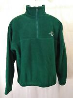Oregon Green 1/4 Zip Pullover Soft Plush Fleece Sweater Mens XL Regular Superb