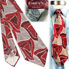 1940s Merritt Cravats Longshire Satins Vintage Necktie Art Deco Swing Tie