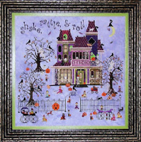 PRAISEWORTHY STITCHES Cross Stitch Pattern Chart MR BONES STARLIGHT BALLROOM