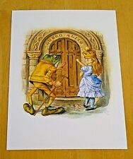 THE MACMILLAN ALICE PRINTED POSTCARD ~ ALICE AND THE FROG ~ LEWIS CARROLL ~ NEW