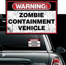 Avvertenza-Zombie di contenimento del veicolo-Walking Dead Auto Van Bici Adesivo Decalcomania
