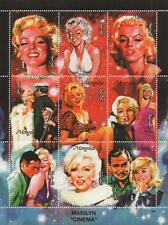MARILYN MONROE ERROR/MISPRINT NO VALUE ON STAMPS MONGOLIA 1995 MNH STAMP SHEET