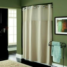 Hookless Textured Fabric Shower Curtain Long - 71x98 inch Desert Taupe