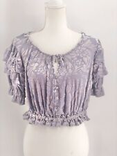 Free People NWT Velveteen Dreams Top in Lavender Size XS