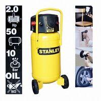 Kolbenkompressor Stanley 50 Liter stehend ÖLFREI Druckminderer 10 Bar B-Ware