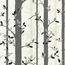 Arthouse Opera Wallpaper Trees Leaf Forest Foliage Birchtree Black 871700