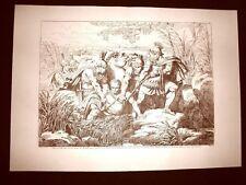 Litografia Caio Mario condotto a Minturna L'Istoria Romana Bartolomeo Pinelli