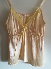 NEW MUCHACHA NUDE WITH YELLOW LACE CAMISOLE size S/M