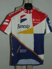 Maillot de Vélo Maillot Haut Cyclisme Sport Équipe Banesto NALINI Taille L