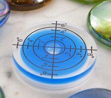 ♫ NIVEAU A BULLE BLEU PLATINE VINYLE A POSER JUKEBOX  Ø 31 mm GRADUÉ EN° ♫