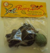 VINTAGE DIME STORE TOY JUMPING PUPPY HONG KONG 1960s NOS New Old Stock