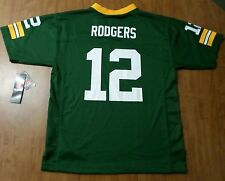 GREEN BAY PACKERS youth lrg Aaron Rodgers football jersey NWT #12 QB new