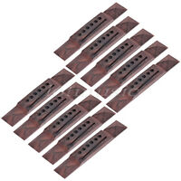 10pcs Rosewood Pyramid Bridge For Acoustic Guitar 6 String Angel Saddle Slotted