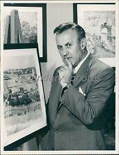 1961 Lee J. Cobb will Speak Vincent Van Gogh Original News Service Photo