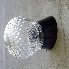 Lámpara Vintage Art Deco de mediados de siglo redondo de Lámpara de Pared Luz Accesorio de pantalla de vidrio
