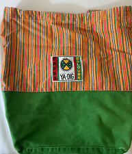 Vintage Cross Colours Backpack Orange and Green