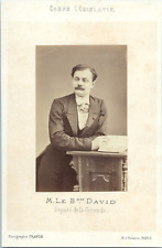Franck, Paris, Baron David, député de la Gironde Vintage albumen print. Tira