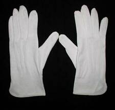 Small SGW White Cotton Parade Gripper Gloves Marching Band Unisex Men Women