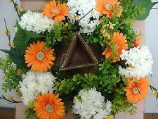 "Grandinroad Eden Garden Spring Wreath 26"" ~ NEW IN BOX"
