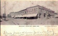 1907. KASSON, MN. MAIN STREET. LOOKING WEST. POSTCARD xz5