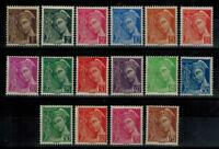(a52) timbres France n° 404/416A neufs** année 1938