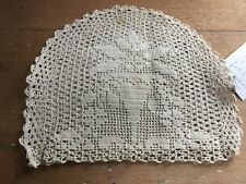 VINTAGE HAND MADE CROCHET LACE TEA COVER