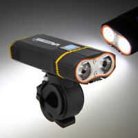 6000LM 2X XM-L2 LED 2 IN 1 Bicicleta Linterna Foco Luz Cabeza+Láser Trasera Luz