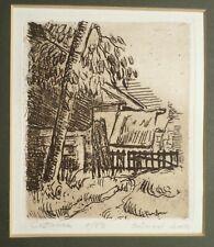 Paul Cezanne 'Paysage a Auvers' . Posthumous Etching . Landscape French Farm