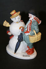 "The 12 Norman Rockwell Porcelain Figurines ""Grandpa Snowman"""