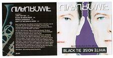 Mega Rare David Bowie Black Tie White Noise Canada 4 Track Promo CD DB-001